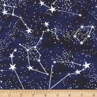 Timeless Treasures Jersey Knit Glow In The Dark Constellations Midnight