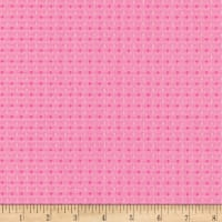 Kaufman St. Tropez Stretch Multi Diamond Hot Pink