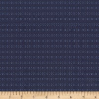 Kaufman Saville Shirt Woven Diamond Stripe Navy