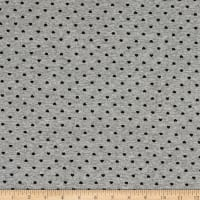 Telio Dakota Stretch Rayon Jersey Knit Print Dot Grey Mix Black