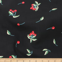Telio Robin Poly Faille Cherries Black/Cherry