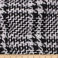 Telio Travis Polyester Tweed Glen Check Black/White