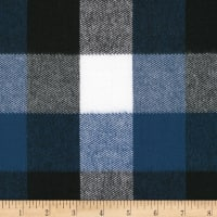 Kaufman Durango Flannel Plaid Denim