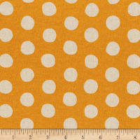 Kaufman Sevenberry Canvas Natural Dots Gold