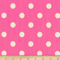 Kaufman Sevenberry Canvas Prints Dot Heavy Weight Hot Pink