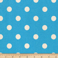 Kaufman Sevenberry Canvas Prints Dot Heavy Weight Blue
