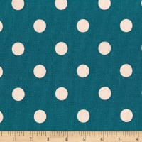 Kaufman Sevenberry Canvas Prints Dot Heavy Weight Teal