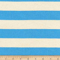 Kaufman Sevenberry Canvas Stripe Heavy Weight Blue