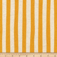 Kaufman Sevenberry Canvas Natural Stripe Gold