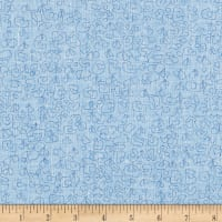 Kaufman Polk Essex Homespun Doodle Paris Blue