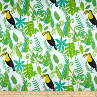 Michael Miller Minky Animal Friends Toucan in Paradise Green