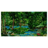 Michael Miller Fabrics Landscapes & Floral Summer Day 24' Panel Green