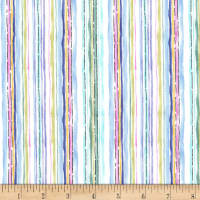 Michael Miller Alfresco Aquarelle Stripe Spring