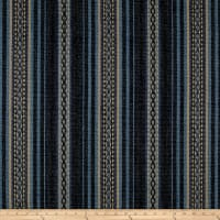 Ralph Lauren Home LCF68335F Aymara Stripe Yarn-Dyed Canvas Midnight