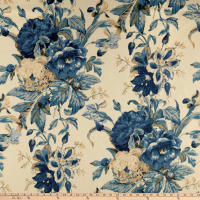 Waverly Kensington Bloom 100% Linen Porcelain