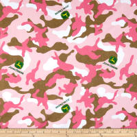 John Deere Everyday Cotton Logo Toss On Camo Pink