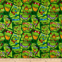 Nickelodeon TMNT Retro Cotton Heroes In A Half Shell Green