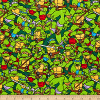 Nickelodeon TMNT Retro Flannel Heroes In A Half Shell Green