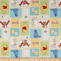 Disney Pooh Nursery Pooh Bee Cuddly Patchwork Multi