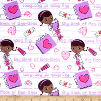 Disney Doc McStuffins Poplin Big Book Of Boo Boos Notebook White