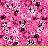 Disney Minnie Bowtique Cotton Minnie Allover Pink