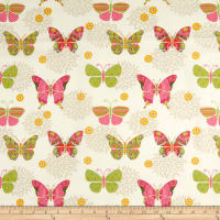 Springs Creative Bohemian Garden Butterflies Cream