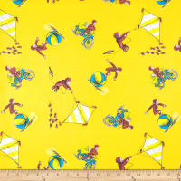 Universal Curious George Cotton Delivering Papers Yellow