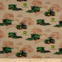 John Deere Cotton Country Farm Tractor Scenic Brown