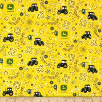 John Deere Everyday Cotton Bandana Tractor Patch Yellow