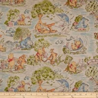 Disney Pooh Cotton A Day In The Park Full Color Toile Green