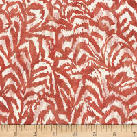 Susan Winget Farmhouse Rooster Rooster Feathers Poplin Red Clay