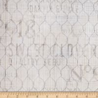 Susan Winget Farmhouse Rooster Chicken Wire Basketweave Gray