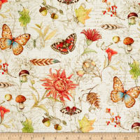 Susan Winget Fall Field Guide Nature Icon Toss Basketweave Cream