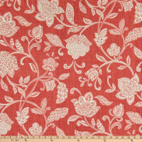 Waverly Stencil Vine Duck Coral