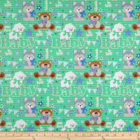 Fox/Sheep/Bear Flannel Plaid Green
