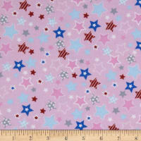 Fox/Sheep/Bear Flannel Star Pink