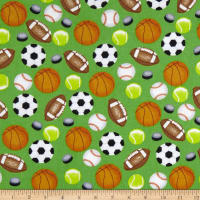 Sports Allover Flannel Green