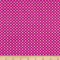 Two Tone Dot Flannel Fuschia