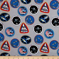 NASA Patches Gray