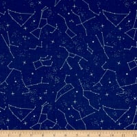 NASA Constellations Blue With Sparkle