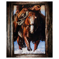 "Penny Rose Horsin' Around Job 36"" Panel Multi"
