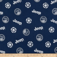 Riley Blake Lisc Collections-Jeep In The Wild Toss Navy