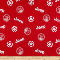 Riley Blake Lisc Collections-Jeep In The Wild Toss Red