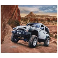 "Riley Blake Lisc Collections-Jeep In The Wild Silver 36"" Panel"