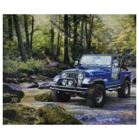 """Riley Blake Lisc Collections-Jeep In The Wild Blue 36"""" Panel"""
