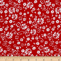 Riley Blake So Ruby Floral Red