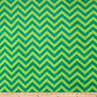 Plush Coral Fleece Chevron Jade Emerald