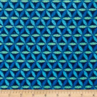 Plush Coral Fleece Lattice Blue Multi