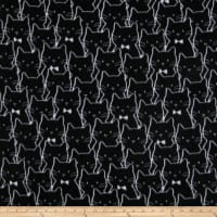 Cat Cluster Fleece Black