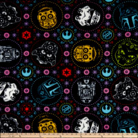 Star Wars Sugar Skulls Fleece Coral